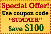 "Save $100 with ""SUMMER"" Coupon Code"